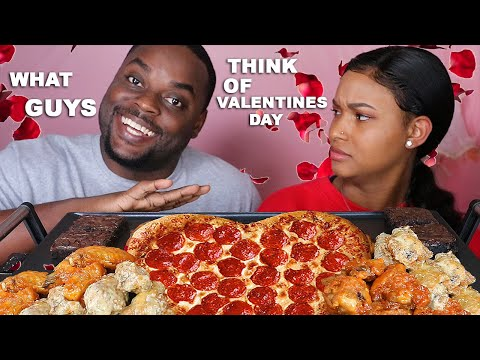PIZZA HUT PIZZA MUKBANG EATING SHOW + CHICKEN WINGS + CHOCOLATE BROWNIES | QUEEN BEAST