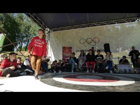 Hip Hop Kids battles final Marija vs Kamile @Lteam Jam 2017