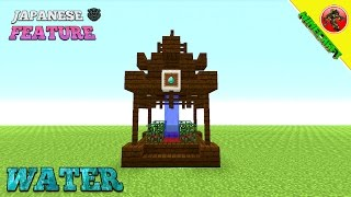 Minecraft Tutorial: How To Build A Japanese Water Feature