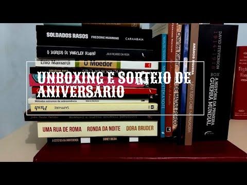 Sorteio de Aniversário! Desencaixotando livros novos. Unboxing de Agosto. Bookhaul