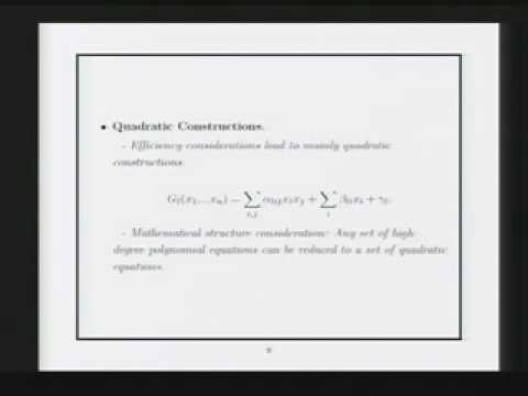 CERIAS Security: Perturbation of Multivariable Public-key Cryptosystems 1/5