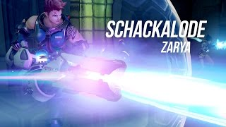 Zarya on max charge is running trough the targets.