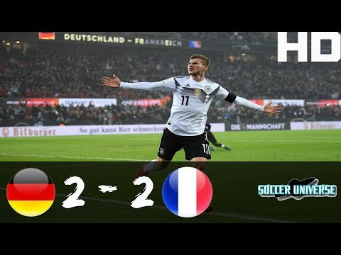 Germany vs France 2-2 All Goals & Highlights HD Friendly Match 14-11-2017