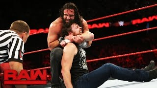 Elias Samson's debut against Dean Ambrose gets disrupted by an A-List assault: Raw, May 22, 2017 Video