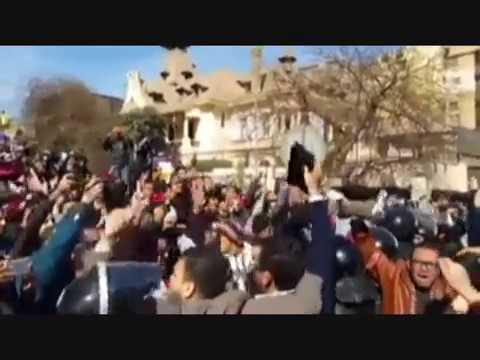 تظاهره بعد الحكم بمصرية تيران وصنافير