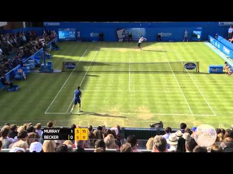 Murray - Watch quarter-final highlights from the Aegon Championships on Friday at the Queen's Club in London, featuring top-seeded Andy Murray vs. Benjamin Becker. Vi...