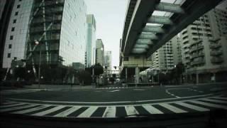 (HD) Morning drive in Tokyo 10 -早朝のゆりかもめ沿線ドライブ 2周目-