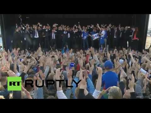 Iceland Performs Viking War Chant