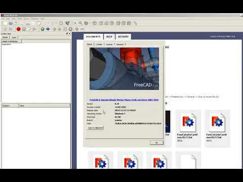 FreeCad 0.18 Introduction , Walkaround And First Steps With PART Workbench. English