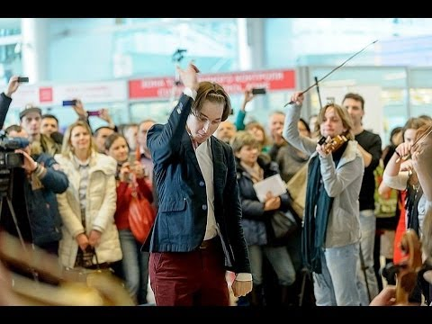 Flashmob. Perm Mozart at the airport