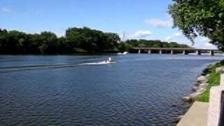 Schenectady (NY) United States  city photos : Boat cruising the Mohawk River - Schenectady NY USA