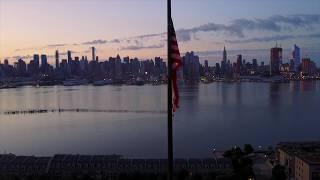 """""""We rowed across the Hudson at dawn..."""" On this day in 1804, the Hamilton-Burr duel took place at this very spot in Weehawken, NJ. #WhoTellsYourStory"""