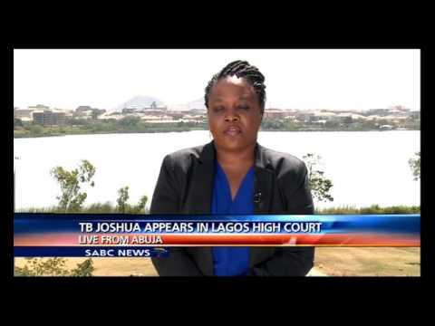 Nigerian preacher TB Joshua appears in the Lagos High court