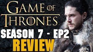 Get Quidd here ►►► http://bit.ly/2u2LLknAdd Carmine! His username is: RedTeamReview▬▬ Video Description ▬▬Game of Thrones Season 7 Episode 2 was insane, especially the  last 10 minutes. Find out my opinion about Arya's change, Cersei's strategy and Euron's assault in today's video. Game of Thrones Podcast: https://soundcloud.com/redteamreview▬▬ Support My Channel ▬▬● Patreon: https://www.patreon.com/redteamreview●T-Shirts: https://shop.spreadshirt.com/RedTeamReview● P.O. Box Coming Soon▬▬ Follow Us on Social Media! ▬▬● Facebook: https://www.facebook.com/redteamreview● Twitter: https://twitter.com/RedTeamReview● Instagram: https://www.instagram.com/redteamreview/● Tumblr: http://redteamreview.tumblr.com/● Snapchat https://www.snapchat.com/add/redteamreview▬▬ Big Thanks to our Patrons! ▬▬❤James H❤Lady Milk Maid❤Marilyn B❤Katherine D.R❤Julian M❤Lauri K❤kingmckay❤Jabzkillem❤ Pamela B❤universalpotentate❤Rob from Nashville❤Sophie❤Bittersteel❤Napoleon Dagalea❤Robert M▬▬ Check Out These Videos! ▬▬►Star Wars Aftermath Top 3 - https://youtu.be/V9ZtULU7KHU►Red Vs Blue Season 12 Review - http://youtu.be/DQ37PBgYxqc►Destiny Review - http://youtu.be/xNSNtpikkPk►GoT Telltale Game Characters - http://youtu.be/43lTlNjbbeE►Marvel's Jessica Jones Review - https://youtu.be/VF9WlkrmNEg►Game of Thrones: An Epic or History Book? Feat - History Buffs  - https://youtu.be/0hmXyP9Vmm4▬▬ Partners, Friends & Affiliates ▬▬★http://polar-biscuit.tumblr.com/tagged/polarbiscuit★https://www.youtube.com/user/theissuesguystuff★https://www.youtube.com/user/FeroxStudios★https://www.youtube.com/user/BrimRun★http://tiny.cc/historybuffs★http://mannamedgeorge.deviantart.com/▬▬ Information ▬▬Game of Thrones is an American fantasy drama television series created for HBO by David Benioff and D. B. Weiss. Based on the fantasy novel series, A Song of Ice and Fire by George R.R. Martin. A Game of Thrones is one of the most successful television series to ever made and continues to captivate audiences all over the 