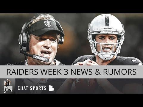 Oakland Raiders Rumors: Jon Gruden Press Conference, Week 3 News & Week 2 Stock Up Stock Down