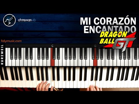 Mi Corazón Encantado DRAGON BALL GT | PIANO Tutorial Notas