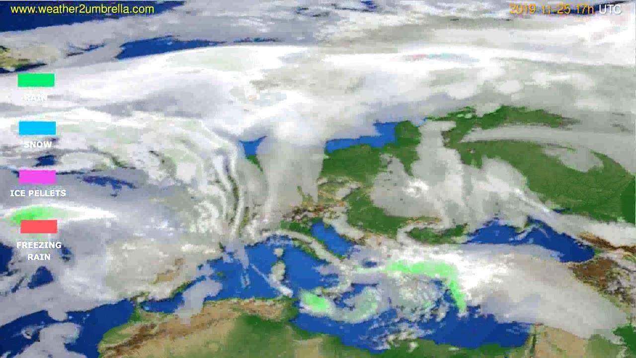 Precipitation forecast Europe // modelrun: 00h UTC 2019-11-24