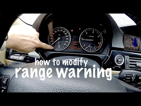 how to modify fuel reserve warningn bmw e90