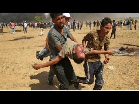 العرب اليوم - شاهد: قتلى ومئات الجرحى برصاص جيش الاحتلال في مسيرات