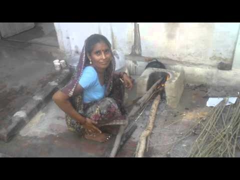 How to lit, put fire into Clay Oven (Part 1/5) Perfect cleaning hot plate TAVA using BRICK piece