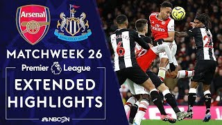 Arsenal v. Newcastle | PREMIER LEAGUE HIGHLIGHTS | 2/16/2020 | NBC Sports