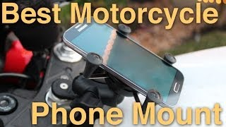 10. RAM Mount Install - Motorcycle Phone Mount Review