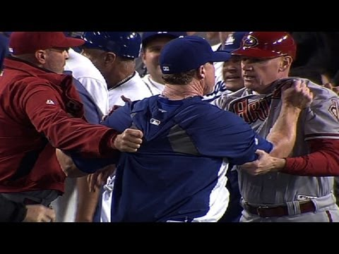 D-backs, Dodgers brawl twice in one night