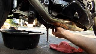 8. Motorcycle Oil Change: Triumph 955i Speed Triple