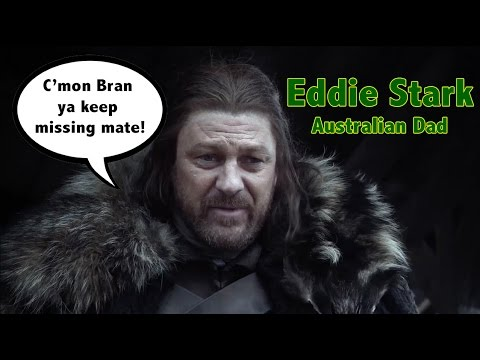 dad - He drinks too much. He swears too much. His relationships breakdown. He's Eddie Stark: Australian Dad. http://www.facebook.com/ozzymanreviews @OzzyManReviews Besides free YouTube production...