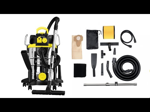 Parkside Wet and Dry Vacuum Cleaner PNTS 1500 C4 Testing