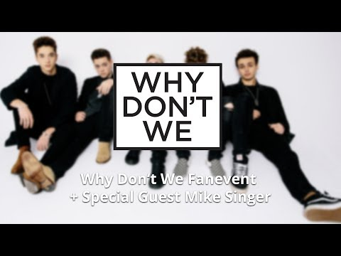 Why Don't We Fanevent 18.10.2017 - UM 17:15 / Special Guest Mike Singer
