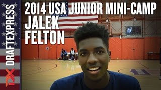 2014 Jalek Felton Interview - DraftExpress - USA Mens Junior Team Mini-Camp