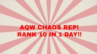 AQW - FAST CHAOS REP - RANK 10 IN 1 DAY!