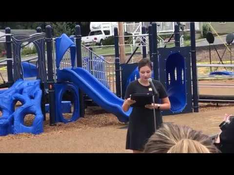 Video: Kennedy Elementary playground ceremoney