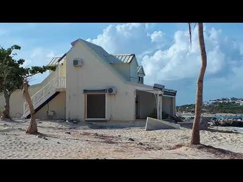 Nettle baie beach club 2 month after hurricane Irma st martin
