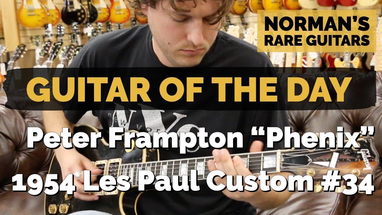 "Guitar of the Day: Peter Frampton ""Phenix"" Gibson 1954 Les Paul Custom #34 | Norman's Rare Guitars"