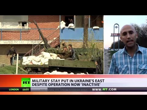 Military stay in Ukraine's East despite 'inactive' operation