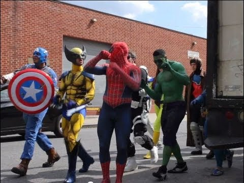 marvel epic flash mob nyc