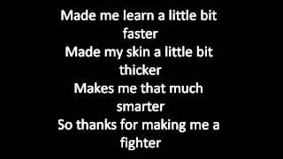 Christina Aguilera - Fighter (Lyrics)