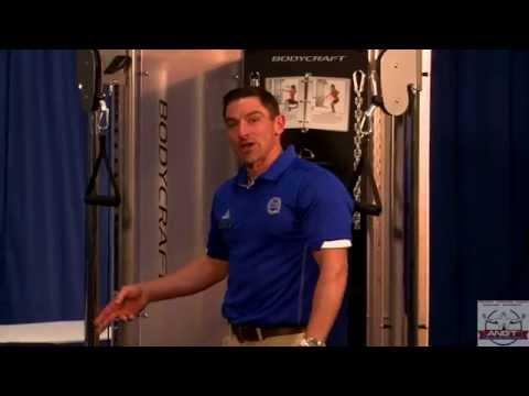 Nick Clayton demonstrates using Bodycraft Functional Trainer