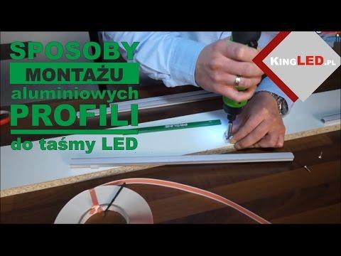 Montaż aluminiowych profili do taśmy LED