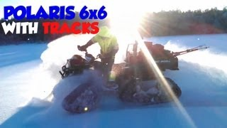 6. Polaris 6x6 Sportsman 800 Big Boss ATV polaris prospector snow tracks kit power steering six wheeler