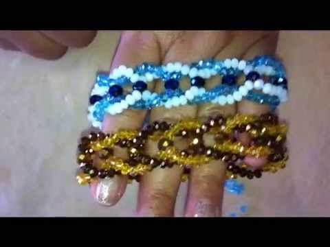 pulsera de cristal trenzada