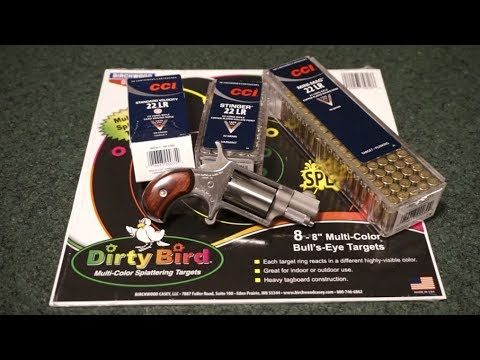 North American Arms NAA Mini Revolver 22lr accuracy test with CCI ammunition.