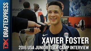 Xavier Foster Interview at USA Basketball Junior National Team Camp