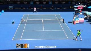 Rafael Nadal vs Feliciano Lopez Australian Open 2012 Highlights HD (720p) Round 4