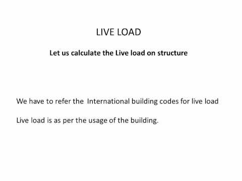calculation of dead load