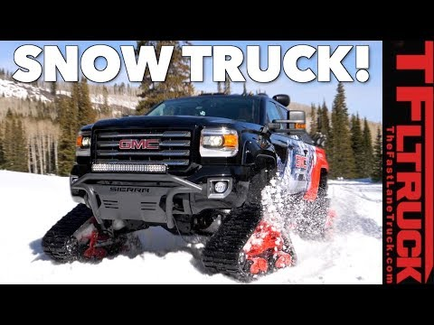 It's a Truck, It's a Snowcat! No, It's a GMC Sierra HD All Mountain Snow Truck!