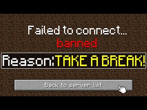 I got BANNED for Playing TOO MUCH Minecraft!
