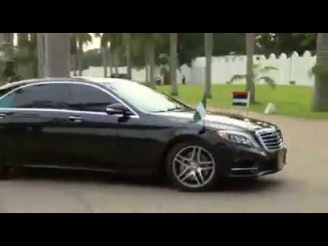 PMB Motorcade Inside The Aso Rock Villa From Airport